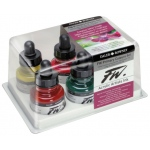 FW Liquid Artists' Acrylic Ink 6-Color Primary Set; Color: Multi; Format: Bottle; Ink Type: Acrylic; Size: 1 oz; (model FW160100006), price per set