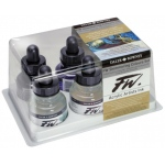 FW Liquid Artists' Acrylic Ink 6-Color Shimmering Set; Color: Metallic; Format: Bottle; Ink Type: Acrylic; Size: 1 oz; (model FW160110006), price per set