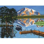 "Reeves™ Large Acrylic Painting By Numbers Set Lake; Color: Multi; Size: 12"" x 15 1/2""; Type: Acrylic; (model PL96), price per each"