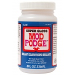 Mod Podge® Super Gloss 8 oz. Glue Sealer and Finish: Gloss, Bottle, 8 oz, All Purpose, (model PLCS11297), price per each