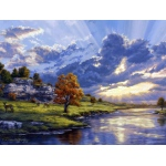 "Reeves™ Large Painting By Numbers River's Edge; Color: Multi; Size: 12"" x 16""; (model PBNACL8), price per each"