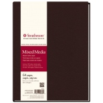 "Strathmore® 500 Series 8 1/2"" x 11"" Sewn Bound Mixed Media Art Journal: White/Ivory, Journal, 64 Sheets, 8 1/2"" x 11"", Mixed Media, (model ST566-8), price per each"