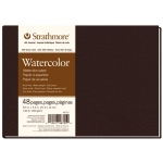 "Strathmore® 400 Series 8 1/2"" x 5 1/2"" Sewn Bound Watercolor Art Journal; Color: White/Ivory; Format: Journal; Quantity: 48 Sheets; Size: 8 1/2"" x 5 1/2""; Texture: Cold Press; Type: Watercolor; (model ST467-5), price per each"