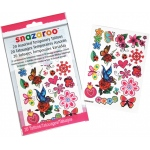 Snazaroo™ Flower & Butterfly Themed Temporary Tattoos: Multi, Tattoo, (model 1198314), price per each