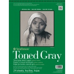 "Strathmore® 400 Series 11"" x 14"" Toned Gray Wire Bound Sketch Pad: Black/Gray, Pad, 24 Sheets, 11"" x 14"", Sketching, (model ST412-111), price per 24 Sheets pad"