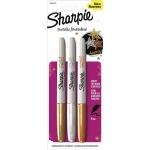 Sharpie® Fine Point Metallic Gold/Silver/Bronze Permanent Marker Set; Color: Metallic; Tip Type: Fine Nib; (model SN1823815), price per set
