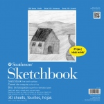 "Strathmore® 100 Series 12"" x 12"" Wire Bound Sketchbook; Binding: Wire Bound; Color: White/Ivory; Format: Book; Quantity: 30 Sheets; Size: 12"" x 12""; Type: Sketching; (model ST27-110-1), price per each"