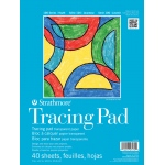 "Strathmore® 100 Series 9"" x 12"" Tape Bound Tracing Pad; Binding: Tape Bound; Color: White/Ivory; Format: Pad; Quantity: 40 Sheets; Size: 9"" x 12""; Type: Tracing; (model ST27-170-1), price per 40 Sheets pad"