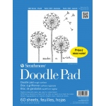 "Strathmore® 100 Series 9"" x 12"" Tape Bound Doodle Pad; Binding: Tape Bound; Color: White/Ivory; Format: Pad; Quantity: 60 Sheets; Size: 9"" x 12""; Type: Drawing; (model ST27-009-1), price per 60 Sheets pad"