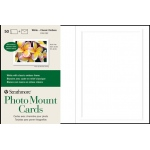 "Strathmore® Embossed Photo Mount Cards 50-Pack; Color: White/Ivory; Format: Card; Quantity: 50 Cards; Size: 5"" x 6 7/8""; Type: Mounting; (model ST105-232), price per 50 Cards"