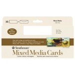 "Strathmore® 400 Series Mixed Media Slim Size Cards 10-Pack: White/Ivory, Card, 10 Cards, 3 2/3"" x 8 1/2"", Mixed Media, (model ST105-151), price per 10 Cards"