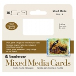 "Strathmore® 400 Series Mixed Media Announcement Size Cards 10-Pack: White/Ivory, Card, 10 Cards, 3 1/2"" x 4 7/8"", Mixed Media, (model ST105-18), price per 10 Cards"