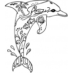 Sarasota Stamps Mounted Rubber Stamp: Deco Dolphin