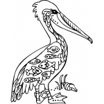 Sarasota Stamps Mounted Rubber Stamp: Deco Pelican