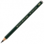 Faber-Castell® 6B Jumbo Graphite Pencils; Color: Black/Gray; Degree: 6B; Lead Size: 5.25mm; Type: Drawing; (model FC119306), price per each