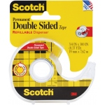 "Scotch® Double-Stick Tape 300"": Roll, 3/4"" x 300"", Double-Sided, 3/4"", (model 237), price per each"