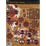 "Hot Off the Press 3-D Papier Tole Die Cuts Rich and Spicy Autumn: Multi, 8 1/2"" x 11"", Dimensional, (model HOTP8016), price per each"