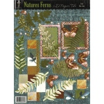 Hot Off the Press 3-D Papier Tole Die Cut: Single Sheet, Foil, Nature's Ferns