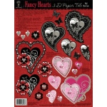 "Hot Off the Press 3-D Papier Tole Die Cuts Fancy Hearts; Color: Multi; Size: 8 1/2"" x 11""; Type: Dimensional; (model HOTP8006), price per each"