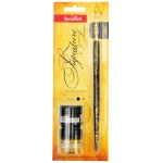 Speedball Signature Series Pen Holder & Nib Set: Black & Gold Ink