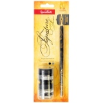 Speedball Signature Series Pen Holder & Nib Set: Black Ink & Pen Cleaner