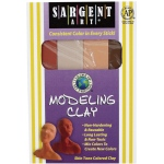 Sargent Art® Non-Hardening Modeling Clay Skintones 4-Pack; Color: Multi; Size: .25 lb; Type: Non-Hardening; (model 224044), price per pack