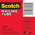 "Scotch® 1-15/16"" x 24"" Mailing Tube; Color: White/Ivory; Diameter: 1 15/16""; Length: 24""; Material: Fiberboard; Size: 15/16"" x 24""; (model 7921), price per each"