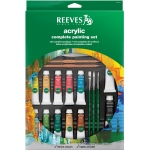 Reeves™ 10ml Complete Acrylic Painting Set: Multi, Tube, 10 ml, Acrylic, (model 8312141), price per set