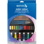 Reeves™ Complete Watercolor Painting Set: Multi, Tube, 10 ml, Watercolor, (model 8312142), price per set