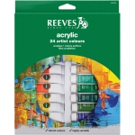 Reeves™ 10ml Acrylic 24-Color Set; Color: Multi; Format: Tube; Size: 10 ml; Type: Acrylic; (model 8493202), price per set