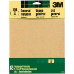 3M™ Aluminum Oxide Sandpaper Fine Grit: Fine, Rectangle, Sandpaper, (model 9001NA), price per pack