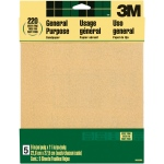 3M™ Aluminum Oxide Sandpaper Very Fine Grit; Grit: Very Fine; Shape: Rectangle; Type: Sandpaper; (model 9000NA), price per pack