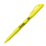 Sharpie® Smear Guard® Fluorescent Yellow Pocket Highlighter: Yellow, (model SN27084), price per each