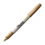 Sharpie® Fine Point Metallic Gold Permanent Marker; Color: Metallic; Tip Type: Fine Nib; (model SN1823889), price per each