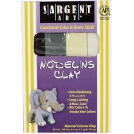 Sargent Art® Non-Hardening Modeling Clay Natural 4-Pack; Color: Multi; Size: .25 lb; Type: Non-Hardening; (model 224007), price per pack