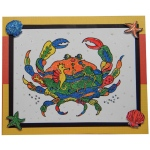 Sarasota Stamps Mounted Rubber Stamp: Deco Crab