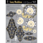 "Hot Off the Press 3-D Papier Tole Die Cuts Sunny Medallions; Color: Multi; Size: 8 1/2"" x 11""; Type: Dimensional; (model HOTP8034), price per pack"