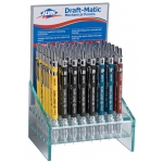 Alvin® Draft-Matic Mechanical Pencil Display; Lead Color: Black/Gray, Multi; Type: Mechanical; (model DM65D), price per each