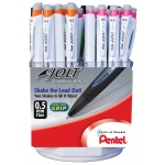 Pentel® Jolt™ Mechanical Pencil Display; Lead Color: Black/Gray; Lead Size: .5mm; Type: Mechanical; (model AS305-4D), price per each