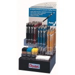 Pentel® Sharp™ Drafting Pencil Display; Format: Pencil; Lead Color: Black/Gray, Multi; (model P20579-72D), price per each