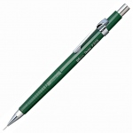 Pentel® Sharp™ 0.5mm Green Barrel Drafting Pencil; Lead Color: Black/Gray; Lead Size: .5mm; Type: Mechanical; (model P205-D), price per each