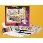 Jon Gnagy Learn to Draw Pen & Ink, Oil Pastel Set
