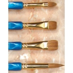 Museum Blue Topaz Brush: Bright, Size 2
