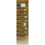 Prima White Gold Taklon: Filbert, Size 0, Long Handle