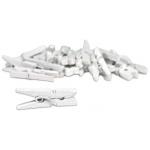 Canvas Corp Clothespins: Mini, White