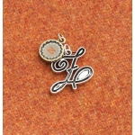 Making Memories Vintage Groove by Jill Schwartz Charms: Alpha Z