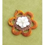 Making Memories Vintage Groove by Jill Schwartz Pendants: Bead Flower