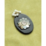 Making Memories Vintage Groove by Jill Schwartz Pendants: Black, Oval