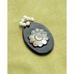 Making Memories Vintage Groove by Jill Schwartz Pendants: Black, Oval