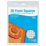 "Scrapbook Adhesives by 3L Foam Squares: 1/2"", White"
